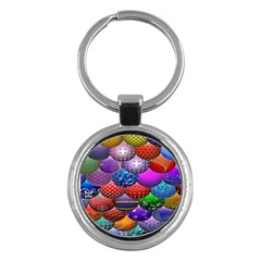 Fun Balls Pattern Colorful And Ornamental Balls Pattern Background Key Chains (round)