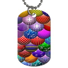 Fun Balls Pattern Colorful And Ornamental Balls Pattern Background Dog Tag (one Side) by Nexatart