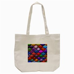 Fun Balls Pattern Colorful And Ornamental Balls Pattern Background Tote Bag (cream) by Nexatart