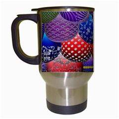 Fun Balls Pattern Colorful And Ornamental Balls Pattern Background Travel Mugs (white) by Nexatart