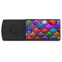 Fun Balls Pattern Colorful And Ornamental Balls Pattern Background Usb Flash Drive Rectangular (4 Gb) by Nexatart