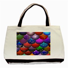 Fun Balls Pattern Colorful And Ornamental Balls Pattern Background Basic Tote Bag (two Sides) by Nexatart