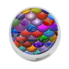 Fun Balls Pattern Colorful And Ornamental Balls Pattern Background 4 Port Usb Hub (two Sides)  by Nexatart