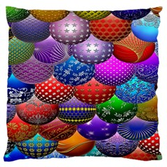 Fun Balls Pattern Colorful And Ornamental Balls Pattern Background Large Cushion Case (two Sides)