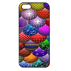 Fun Balls Pattern Colorful And Ornamental Balls Pattern Background Apple Iphone 5 Seamless Case (black) by Nexatart