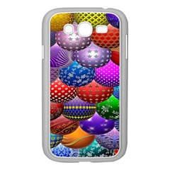 Fun Balls Pattern Colorful And Ornamental Balls Pattern Background Samsung Galaxy Grand Duos I9082 Case (white) by Nexatart