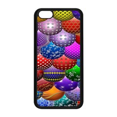 Fun Balls Pattern Colorful And Ornamental Balls Pattern Background Apple Iphone 5c Seamless Case (black) by Nexatart