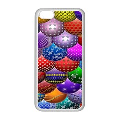 Fun Balls Pattern Colorful And Ornamental Balls Pattern Background Apple Iphone 5c Seamless Case (white) by Nexatart