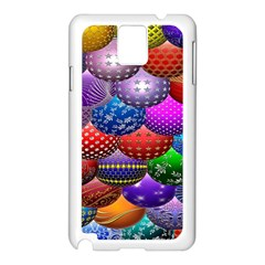 Fun Balls Pattern Colorful And Ornamental Balls Pattern Background Samsung Galaxy Note 3 N9005 Case (white) by Nexatart