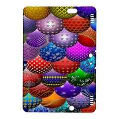 Fun Balls Pattern Colorful And Ornamental Balls Pattern Background Kindle Fire Hdx 8 9  Hardshell Case by Nexatart
