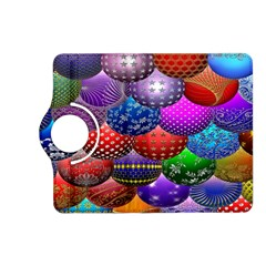 Fun Balls Pattern Colorful And Ornamental Balls Pattern Background Kindle Fire Hd (2013) Flip 360 Case by Nexatart