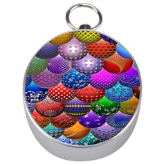 Fun Balls Pattern Colorful And Ornamental Balls Pattern Background Silver Compasses by Nexatart