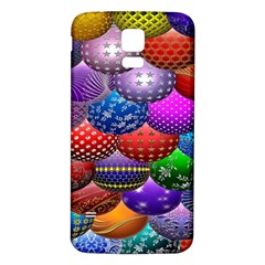 Fun Balls Pattern Colorful And Ornamental Balls Pattern Background Samsung Galaxy S5 Back Case (white) by Nexatart