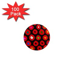 Polka Dot Texture Digitally Created Abstract Polka Dot Design 1  Mini Magnets (100 Pack)  by Nexatart
