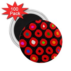 Polka Dot Texture Digitally Created Abstract Polka Dot Design 2 25  Magnets (100 Pack)