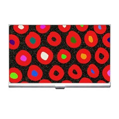 Polka Dot Texture Digitally Created Abstract Polka Dot Design Business Card Holders by Nexatart