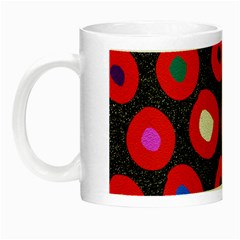 Polka Dot Texture Digitally Created Abstract Polka Dot Design Night Luminous Mugs