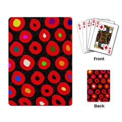 Polka Dot Texture Digitally Created Abstract Polka Dot Design Playing Card by Nexatart