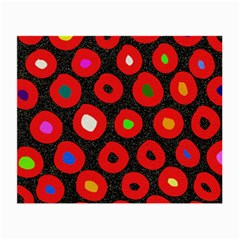 Polka Dot Texture Digitally Created Abstract Polka Dot Design Small Glasses Cloth (2 Side) by Nexatart