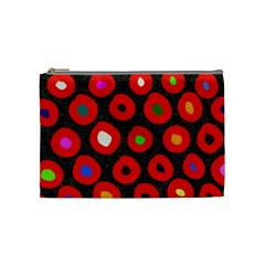 Polka Dot Texture Digitally Created Abstract Polka Dot Design Cosmetic Bag (medium)