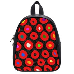 Polka Dot Texture Digitally Created Abstract Polka Dot Design School Bags (Small)
