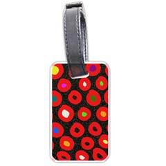 Polka Dot Texture Digitally Created Abstract Polka Dot Design Luggage Tags (one Side)  by Nexatart