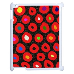 Polka Dot Texture Digitally Created Abstract Polka Dot Design Apple Ipad 2 Case (white) by Nexatart