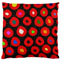Polka Dot Texture Digitally Created Abstract Polka Dot Design Large Cushion Case (one Side) by Nexatart
