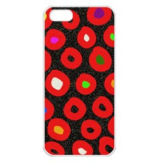 Polka Dot Texture Digitally Created Abstract Polka Dot Design Apple Iphone 5 Seamless Case (white)