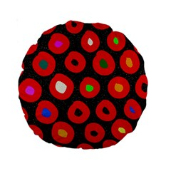 Polka Dot Texture Digitally Created Abstract Polka Dot Design Standard 15  Premium Round Cushions
