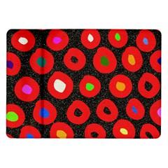 Polka Dot Texture Digitally Created Abstract Polka Dot Design Samsung Galaxy Tab 10 1  P7500 Flip Case