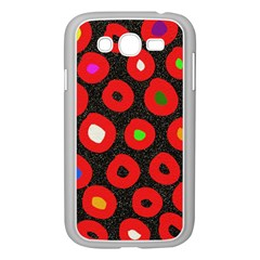 Polka Dot Texture Digitally Created Abstract Polka Dot Design Samsung Galaxy Grand Duos I9082 Case (white) by Nexatart