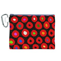 Polka Dot Texture Digitally Created Abstract Polka Dot Design Canvas Cosmetic Bag (xl) by Nexatart