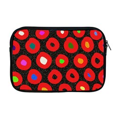 Polka Dot Texture Digitally Created Abstract Polka Dot Design Apple Macbook Pro 17  Zipper Case by Nexatart