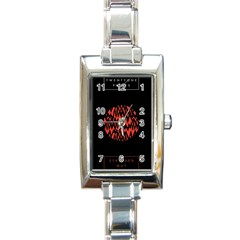 Albums By Twenty One Pilots Stressed Out Rectangle Italian Charm Watch by Onesevenart
