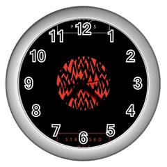 Albums By Twenty One Pilots Stressed Out Wall Clocks (silver)  by Onesevenart