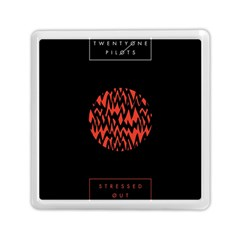 Albums By Twenty One Pilots Stressed Out Memory Card Reader (square)  by Onesevenart