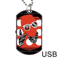Twenty One Pilots Poster Contest Entry Dog Tag Usb Flash (two Sides) by Onesevenart