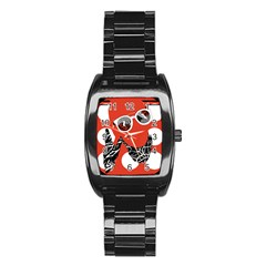 Twenty One Pilots Poster Contest Entry Stainless Steel Barrel Watch by Onesevenart