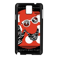 Twenty One Pilots Poster Contest Entry Samsung Galaxy Note 3 N9005 Case (black) by Onesevenart