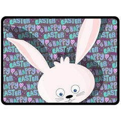 Easter Bunny  Double Sided Fleece Blanket (large)  by Valentinaart
