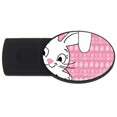 Easter Bunny  Usb Flash Drive Oval (4 Gb) by Valentinaart