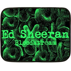 Bloodstream Single Ed Sheeran Double Sided Fleece Blanket (mini)  by Onesevenart