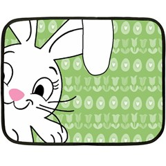 Easter Bunny  Fleece Blanket (mini) by Valentinaart