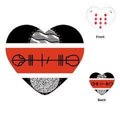 Poster Twenty One Pilots Playing Cards (heart)  by Onesevenart