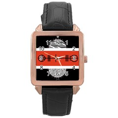 Poster Twenty One Pilots Rose Gold Leather Watch  by Onesevenart