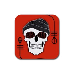 Poster Twenty One Pilots Skull Rubber Coaster (square)  by Onesevenart
