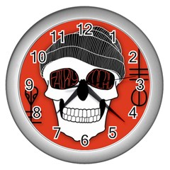 Poster Twenty One Pilots Skull Wall Clocks (silver)  by Onesevenart