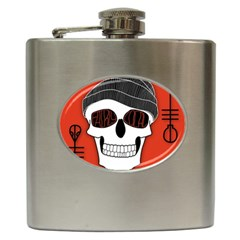 Poster Twenty One Pilots Skull Hip Flask (6 Oz) by Onesevenart