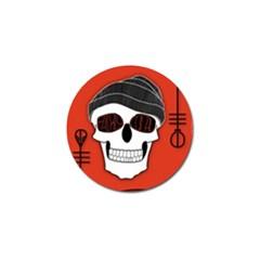 Poster Twenty One Pilots Skull Golf Ball Marker (4 Pack) by Onesevenart